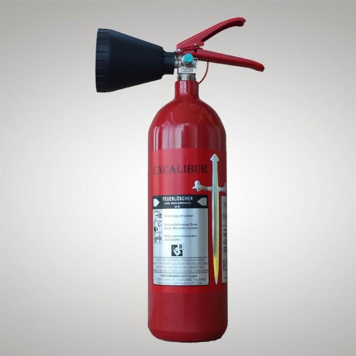 Kohlendioxidfeuerlöscher König® 2 kg Excalibur® 2 LE