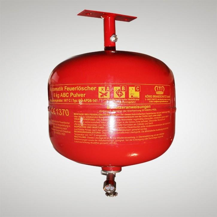 Pulverlöscher 6 kg Dauerdruck Automatic 6 LE Ausführung 68° C