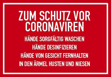 Schild DIN A4 COCID-19 (Schutz)