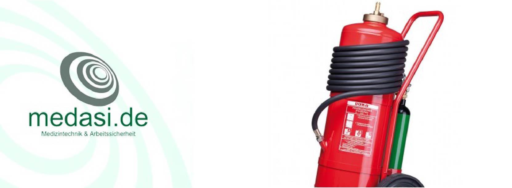 Feuerlöscher fahrbar 50kg Pulver